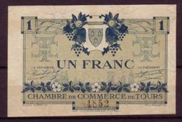 INDRE Et LOIRE - 1920 - 2° EMISSION - BON De 1F. De La CHAMBRE DE COMMERCE De TOURS - GUERRE 14/18 - FILIGRANE ABEILLE - - Chambre De Commerce