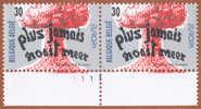 Timbre 1995 N° 2598 - Traité De Non-prolifération - Planche 1 - Plaatnummers