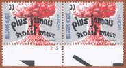 Timbre 1995 N° 2598 - Traité De Non-prolifération - Planche 2 - Plaatnummers