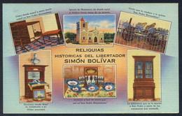 *Reliquias Historicas Del Libertador Simón Bolivar*  Ed. Tichnor Bros. Nueva. - Colombia