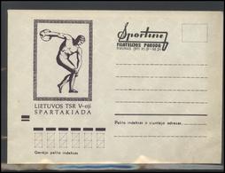 LITHUANIA LSSR Cover LTSR RM 0745ovpt 5th Sport Games Of Lithuania USSR KAUNAS Club Overprint - Lituania
