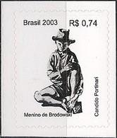 BRAZIL - DEFINITIVES: PAINTINGS BY CANDIDO PORTINARI (BOY FROM BRODOWSKI, SELF-ADHESIVE) 2003 - MNH - Arte