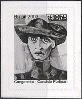 BRAZIL - DEFINITIVES: PAINTINGS BY CANDIDO PORTINARI (COWBOY, SELF-ADHESIVE) 2003 - MNH - Arte