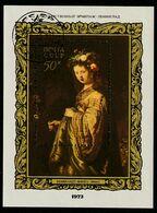 """Bo091 - URSS 1973 - Bloc N°91 (YT) Avec Empreinte 'PREMIER JOUR' - ART- Peinture : Tableau De Rembrandt : """"Flora"""" - Machine Stamps (ATM)"""