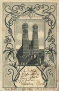 AK München Frauenkirche Jugendstil Hopfen 1901 #226 - Muenchen