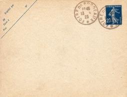 Entier Postal Semeuse 25c Foire De Bordeaux Gironde 1923 - Brieven En Documenten