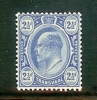 TRANSVAAL 1905 Mint Hinged Stamp(s) Edward VII 2 1/2d Bright Blue  Sacc-nr 281 - South Africa (...-1961)