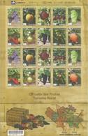 BRAZIL - FULL SHEET OF 20 STAMPS: CIRCUIT OF FRUIT, RURAL TOURISM MNH - 2009 - Fruits
