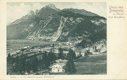 AK Scharnitz Ort & Arnspitzen Correspondenz ~1900 #03 - Scharnitz