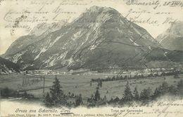 AK Scharnitz Tirol Ortsansicht Correspondenz 1903 #04 - Scharnitz