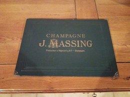 SOUS MAIN FORMAT 36.5 X 25.5 SUR LE CHAMPAGNE J.MASSING PRODUCTEUR  NEGOCIANT A AY - Other Collections
