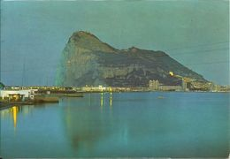 AK Gibraltar Felsen + Hafen Nacht Farbfoto #0182 - Gibilterra