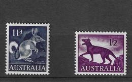 Australia 1961 MiNr. 310 - 311  Australien Greater Bilby, Tasmanian Wolf 2v MNH** 2,00 € - Altri