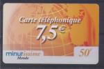 Carte Téléphonique 50F - Monde - Minutissime - Frankrijk