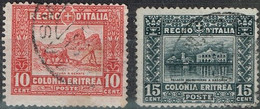 Erythrée - 1910-29 - Y&T N° 38A Et 39A Oblitérés - Erythrée