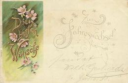 """AK Neujahr Blumen """"Erika"""" Farblitho 1901 #110 - Neujahr"""