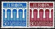 CEPT 1984 Brücke Fürstentum Liechtenstein 837/8 ** 2€ Konferenz Post Und Fernmeldewesen Set From Europa - Liechtenstein
