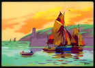 Bateaux --  Voiliers  - Illustrateur SIM  - Aquarelle - Réf: 11724 - Sim