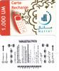 MAURITANIA - Mattel Recharge Card 1000 UM(thin Plastic), Used - Mauritania