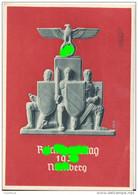 Festpostkarte Reichsparteitag Der NSDAP In Nürnberg 8.-14 September 1936 Gelaufen 11.9.1936 Mit Parteitagsmarke + Stempe - Allemagne