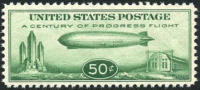 US C18 XF Mint Never Hinged 50c ´Baby Zep´ From 1933 - Air Mail