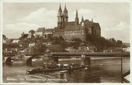 AK Meißen Meissen Albrechtsburg Elbdampfer 1931 #12 - Meissen