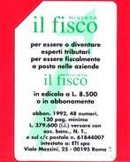 """ITALIA - Scheda Telefonica - Usata - SIP - Rivista """"Il Fisco"""" - C&C 2241 - Golden 184 - Italia"""