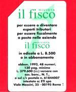 """ITALIA - Scheda Telefonica - Usata - SIP - Rivista """"Il Fisco"""" - C&C 2242 - Golden 185 - Italia"""