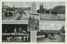AK Köln Mehrbild 1939 WHW-Werbestempel #36 - Köln