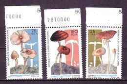 Equatorial Guinea Äquatorial-Guinea  1992 Mushrooms 3v MNH** - Pilze