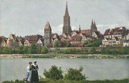 AK Ulm Donauansicht Farbenphoto Hildenbrand Lumière ~1920 #67 - Ulm