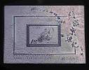 Silver Foil 1960 Postal Service Stamp Clock Motorbike Motorcycle Postman Unusual - Clocks