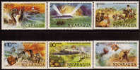 Nicaragua Jules Verne Sc 1085-8,C942-3 MNH 1978 CV$2.75 - Nicaragua