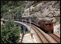 POSTKARTE LOK RE 4/4 NR. 177 VOR IC431 TRAIN BLEU Basel-Bern-Brig-Domodossola Railway Eisenbahn Lokomotive Locomotive AK - Eisenbahnen
