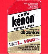 ITALIA - Scheda Telefonica - Telecom - Usata - Caffè Kenon - C&C 2433 A - Golden 394 A - Italie
