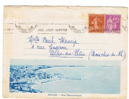 PUBLICITE   Envelope   ROYAN    Station  Balneaire - Marcophilie (Lettres)