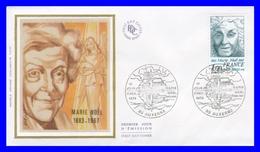 1986 (Yvert) Sur Enveloppe Premier Jour Illustrée Sur Soie - Personnages Célèbres. Marie Noël - France 1978 - FDC