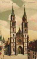 AK Nürnberg Lorenzkirche Color ~1910 #104 - Nuernberg