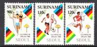 Suriname  812-4   **  OLYMPICS - Surinam