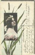 AK Frau Mit Kopfschmuck Schilfrohr Künstler Farblitho 1903 #08 - Moda