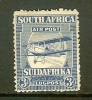 SOUTH AFRICA UNION 1925 Used Stamp 1st Airmail Issue 3d Blue Nrs. 18 - South Africa (1961-...)