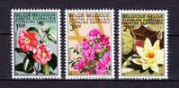 BELGIUM  1970,  Flowers , Y&T  1523/25 + BF 47 , Cv  3.05 E , ** M N H , V V F - Belgio