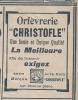 """Pub De 1908 """" Orfevrerie CHRISTOFLE """" - Publicités"""