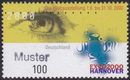 Specimen, Germany Sc2060 Expo 2000 Hanover, Eye - Weltausstellung
