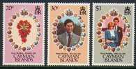Cayman Islands Caimanes 1981 Yvertn° 478-80 *** MNH Cote 4 Euro Marriage Prince Charles Et Diana - Iles Caïmans
