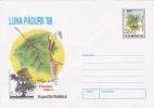 Romania    1998  Pre-paid Envelope.  Forest Moon Flora  Mushrooms - Pflanzen Und Botanik