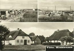 AK Hiddensee Vitte Mehrbild Strand Hafen Fischerhäuser 1970 DDR #1410 - Hiddensee