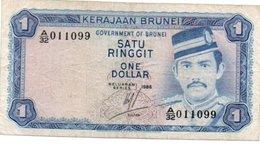 * BRUNEI - 1 RINGGIT 1967 XF/AU - P 1 - Brunei