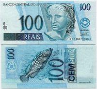 BRAZIL 100 REAIS ND 1994 P 247 A UNC - Brésil