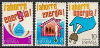 España 2508/2510 ** Ahorro Energía. 1979 - 1931-Hoy: 2ª República - ... Juan Carlos I